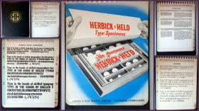 Herbick & Held Type Specimen Book belonging to Violet Symons, Pittsburgh, Pa. c1950s . Herbick & Held Printing Co..Pittsburgh.c1950s