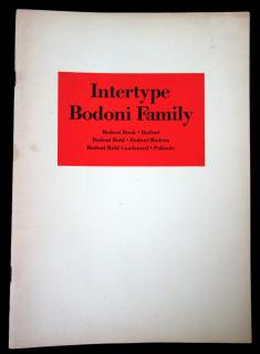 Interype Bodoni Family .  . Intertype Corporation . New York . c1950s