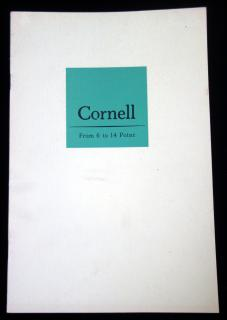 Cornell: From 6 to 14 Point .  . Intertype Corporation . New York . c1950s