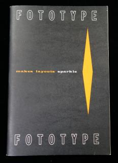 Fototype: Makes Layouts Sparkle .  . Fototype INC . Chicago . 1957