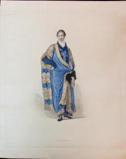 """Nobleman"" Engraving from the History of the University of Cambridge"