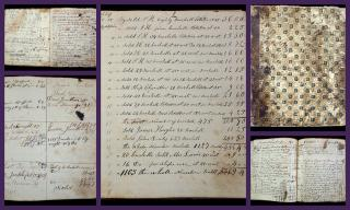 Ledger of a merchant and Francis Haskell, Deer Isle, ME--Accounts of Early Inhabitants, Schooner Constitution and Schooner Victory, 1835-1850. ..