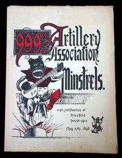 999th Artillery Association Minstrels - Jollification at Crawford House, May 27th, 1898..