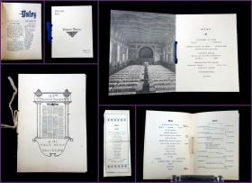 A Collection of Menus and related Ephemera from Yale, circa 1902. Yale.New Haven, CT.1902