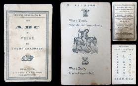 The ABC in Verse for Young Learners. Kiggins & Kellogg.123 & 125 William St. New York.1856-7
