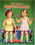 "The Dolly Dressmaker, B.B. Ltd. No. 509 Printed in England. C1950s â"" An unusual twist on a paper doll book- Patterns, Swatches and Trim."