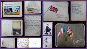 Queen Mary's Army Auxiliary Corps Autograph and Drawing Album, c1915-1918 (W.A.A.C.). ..