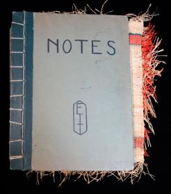 Hand-crafted Student Notebook created by Esther T. Tuttle - Using Kindergarten Art to Solve Problems -c1920s.