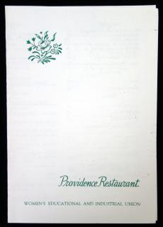 Providence Restaurant 1953 - A Women's Educational and Industrial Union Project...