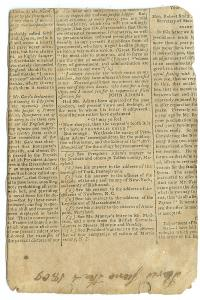 Newspaper Cover Handmade Commonplace Book, June 4, 1809.