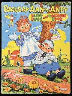 Raggedy Ann and Andy Paper Dolls and Coloring Book. Saalfield.1944
