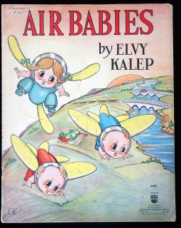 Elvy Kalep Air Babies. Saalfield Publishing Co..Akron.1938