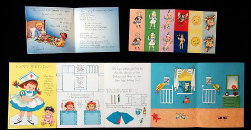 2 Childrens Activity Game Greeting Cards Featuring Nurses And A
