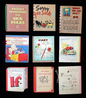 9 Different Picture Story Book Get Well Greeting Cards featuring Activities, Rebus, Inventions Behaviors and More.. ..