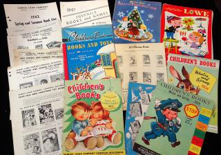 A collection of 16 different Trade Catalogues of Children's Books et al. 1940-1960s. Samuel Lowe Company.Kenosha, Wis. .