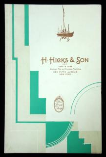 Menu-H. Hicks & Son, America's First and Foremost Fruit Shop, New York , ca. 1936. ..