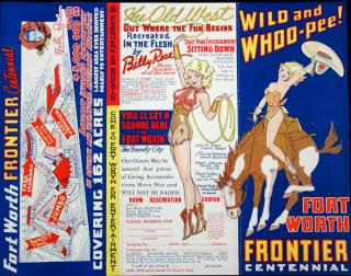 Fort Worth Frontier Centennial , 1936 Amusement Attractions covering 162 Acres, Billy Rose, Director General
