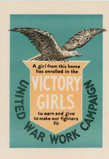 Window Display - Victory Girls - Girls to Earn and Give to Make Our Fighters Fit. United War Work Campaign..1918