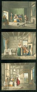 3 Small Watercolors Attributed to A.C. Beaman, 1852