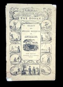 Select and Amusing Anecdotes of Animals.   S. Babcock New Haven c. 1840s