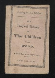 James Trimbey The Tragical History or The Children in the Wood. Trimbey & Co..London.1824