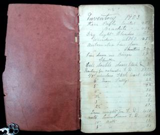Inventory Book for Builder, 1903-1906 . ..