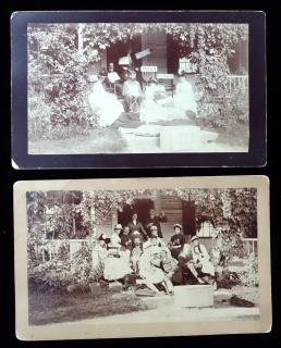 A Pair of Photographs – Before and After - Who was Left without a Mate? Litchfield CT., 1888.. ..1888