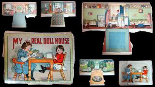 My Real Doll House, with Cut-Out and Stand-Up Illustrations and Colored Lithograph. Saalfield Publishing Company.Akron, Ohio.c1910