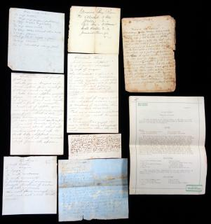Collection of handwritten and typed recipes . ..