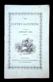 The Youth's Dayspring. January, 1851American Board of Commissioners for Foreign MissionsBoston1851