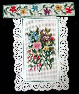 "Handmade Perforated or Punch Paper Needlepoint ""patch"" envelope. .."