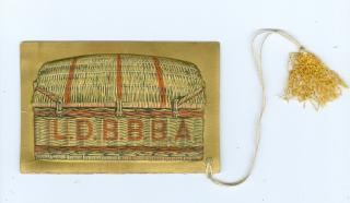 Dance Card with Embossed Basket, Grand Reception of the Liquor Dealers, Brewers and Bottlers Beneficial Association of Philadelphia, Academy of Music, March 29th, 1875