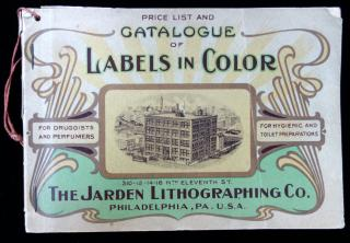 Catalogue and Price List of Original Label Designs, Talcum Wraps and Sachet Envelopes in Stock with  Chromolithograph Images. . The Harden Lithographing Co..Phhiladelphia.1909