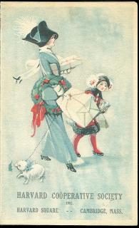 "Harvard Cooperative Society - ""Beaux Arts"" and ""Reliable"" Series Christmas Cards c 1915."