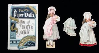 French Paper Dolls - Pauline Baby and Annete. McLoughlin Bros..New York.1895