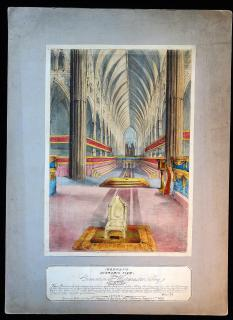 Morgan's Dioramic View of the Coronation at Westminster Abbey.
