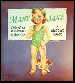 Mary Jane clothes and playthings to cut out: A Cut-Out Doll.