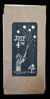 Children's July 4th Hand Made Fireworks Package Prototype . .c1940s.