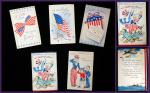"5 Different Greeting Cards Promoting US War Savings Bonds w Inserts - ""Stamp"" Out Dictators. Official War Stamp Greeting Cards.USA Treasury Dept..1942"