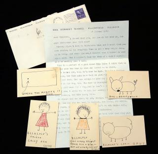 An original Get Well Story and Whimsical Drawings to a hospitalized child by  Sidney Ernestine Warfel. .Chicago.1946