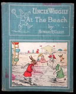 Howard R. Garis. Uncle Wiggily at the Beach or How He and Uncle Butter Went Swimming and The Hollow Stump School Opens also Uncle Butter and Uncle Wiggily Play Golf. Charles E. Graham & Co..Newark, NJ.1924