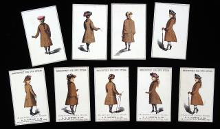 9 Different Promotional Cards depicting Young Girls Cloaks - Hartford Cloak Store -- Our Own Styles