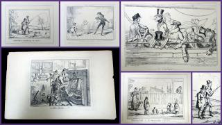 A Set of Five Engravings from the Cruikshankiana Series (Cruikshank). Thomas McLean.London.August 1, 1835