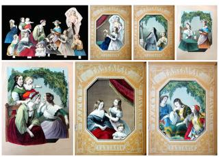 Fantaisie-Fantasia-Fantasie-Fancy- Scenes for Ladies of Leisure to Construct. ..c1840