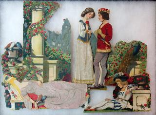 La Belle au Bois Dormant et le Prince Charmant (Sleeping Beauty and Prince Charming) Paper Dolls. Unknown.France.c 1890s