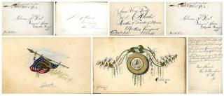 3 Autograph Albums - Campmeetings. .Oak Bluff.1874-1883