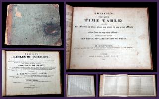 Preston's Complete Time Table (A Perpetual Calendar), and Preston's Tables of Interest