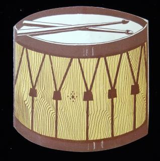 Novelty Die-cut Drum shaped pamphlet promoting Rogers Drums - Civil War - Soldiers Farewell. Rogers & Blackman.Columbus, OH.c1906