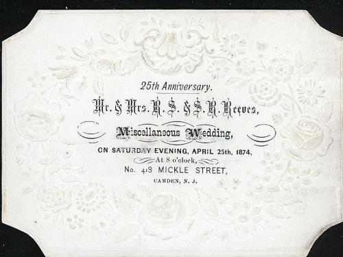 Deeply embossed coated stock invitation to double 25th anniversary deeply embossed coated stock invitation to double 25th anniversary party miscellaneous wedding mden nj1874 stopboris Image collections