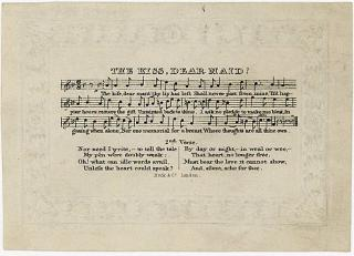 Lord Byron Miniature - Printed Music and Verse - The Kiss Dear Maid! . Rock & Co..London..c1840